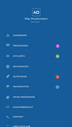Navigation in der ADCELL App