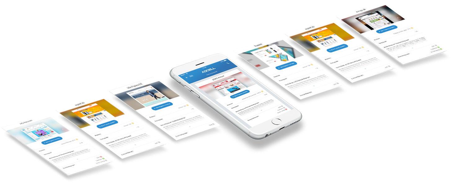 Die Partnerprogramme in der ADCELL App