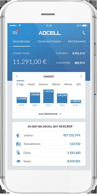 Statistiken in der ADCELL App