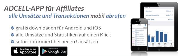 ADCELL-App für unterwegs