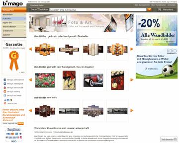 Klik hier voor de korting bij Bimago - Online Shop f r Dekorative Wandbilder