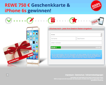 Rewe Einkaufsgutschein über 750 € & iPhone 6S